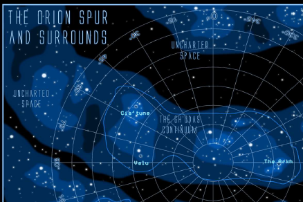 The Orion Spur and Surrounds Map Teaser